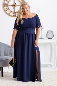 Sukienka KARKO maxi hiszpanka z tkaniny