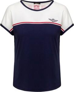 T-shirt Aeronautica Militare z okrągłym dekoltem z krótkim rękawem w militarnym stylu