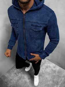 Koszula ozonee.pl z jeansu w stylu casual