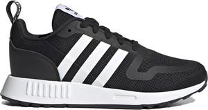 Czarne buty sportowe Adidas z płaską podeszwą sznurowane z zamszu