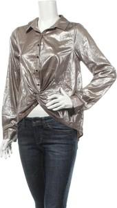 Złota bluzka Bisou`s Project z długim rękawem