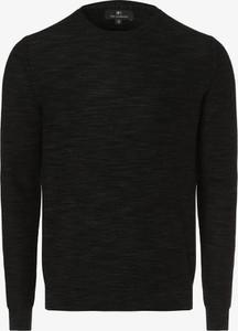 Czarny sweter Nils Sundström z bawełny
