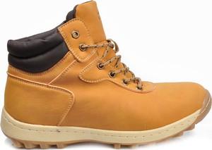 Żółte buty trekkingowe Linshi