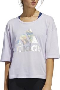 Bluzka Adidas z krótkim rękawem z bawełny z okrągłym dekoltem