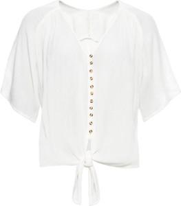 Bluzka bonprix BODYFLIRT z krótkim rękawem w stylu casual