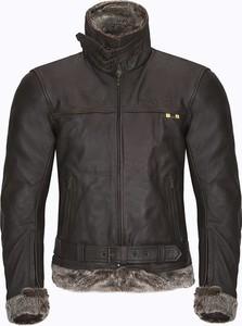 Czarna kurtka W-tec ze skóry