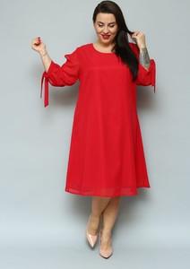 Sukienka KARKO z dzianiny midi z długim rękawem
