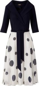 Sukienka Poza z szyfonu z długim rękawem