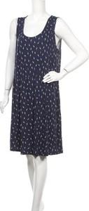 Niebieska sukienka Janina z okrągłym dekoltem mini