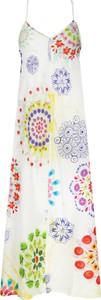 Sukienka Desigual z dekoltem w kształcie litery v na ramiączkach