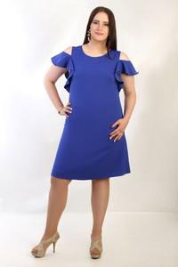 Sukienka Oscar Fashion midi z okrągłym dekoltem