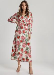 Sukienka Renee maxi w stylu boho z długim rękawem