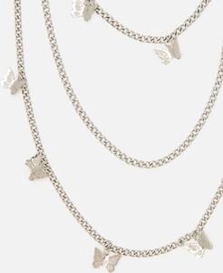 Cropp - Naszyjnik z łańcuszkami - Srebrny