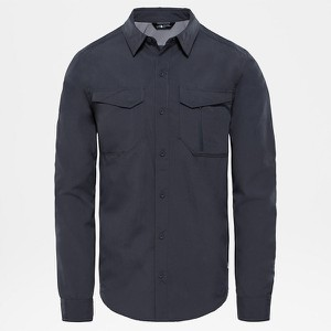 Niebieska koszula The North Face z klasycznym kołnierzykiem z długim rękawem