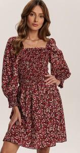 Czerwona sukienka Renee z długim rękawem mini