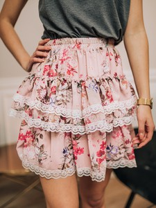 Różowa spódnica Promese mini