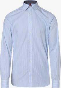 Niebieska koszula Finshley & Harding z długim rękawem