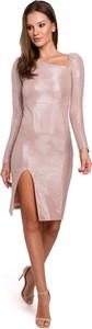Sukienka Makover z tkaniny mini asymetryczna