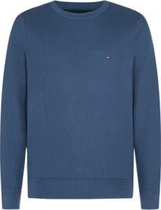Niebieski sweter Tommy Hilfiger z wełny w stylu casual