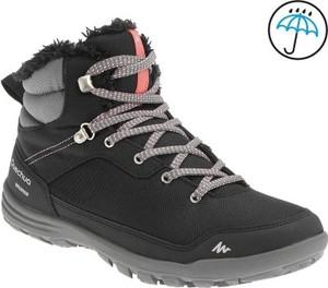 Buty trekkingowe quechua z płaską podeszwą w sportowym stylu