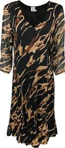 Czarna sukienka 2-biz z długim rękawem