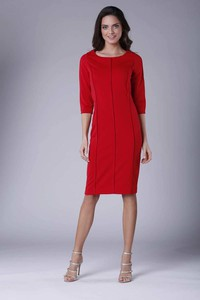 Sukienka Nommo w stylu casual z okrągłym dekoltem z długim rękawem