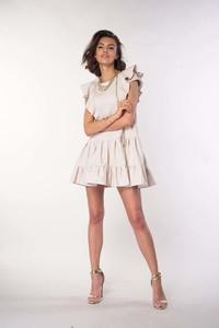 Sukienka Nommo mini z krótkim rękawem z bawełny