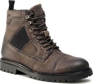 Brązowe buty zimowe S.Oliver sznurowane