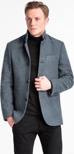 Granatowy płaszcz męski Ombre_Premium