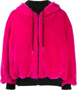 Różowa kurtka Karl Lagerfeld krótka