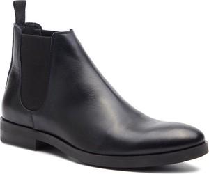 Brązowe buty zimowe Togoshi ze skóry