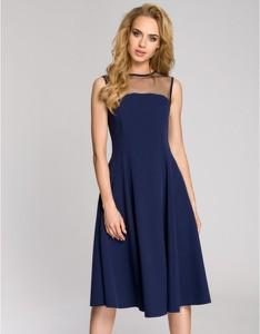 Sukienka MOE bez rękawów z tiulu