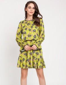 Sukienka Milena Płatek w stylu casual z okrągłym dekoltem