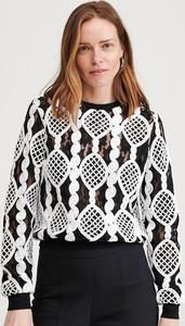 Bluzka Reserved z długim rękawem w stylu casual z okrągłym dekoltem