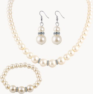 IZMAEL.eu Zestaw Renesance Pearl - Srebrny/Biały