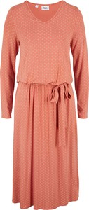 Sukienka bonprix z dżerseju z długim rękawem midi