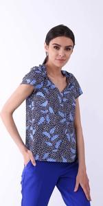 Bluzka Nommo z dekoltem w kształcie litery v w stylu boho