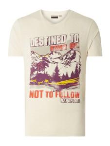 T-shirt Napapijri z nadrukiem z bawełny