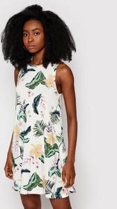 Sukienka Roxy z okrągłym dekoltem prosta
