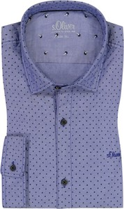 Niebieska koszula S.Oliver z długim rękawem z bawełny
