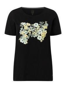 Czarny t-shirt Tom Tailor z bawełny z okrągłym dekoltem z krótkim rękawem