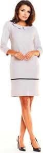 Sukienka Awama z długim rękawem z okrągłym dekoltem