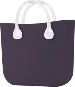 Fioletowa torebka O Bag w stylu casual do ręki