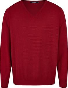 Czerwony sweter Daniel Hechter z bawełny w stylu casual