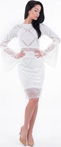 Sukienka Lulu Fashion & Style Poland midi z długim rękawem