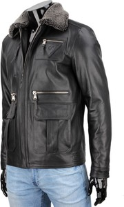 Czarna kurtka Dorjan w stylu casual