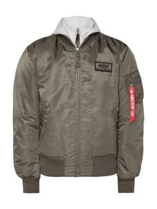 Brązowa kurtka Alpha Industries z dresówki w młodzieżowym stylu