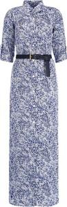 Sukienka Michael Kors maxi z kołnierzykiem w stylu casual