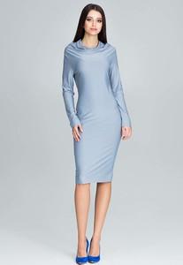 Sukienka Figl midi z długim rękawem dopasowana