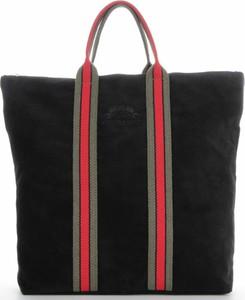 Czarna torebka VITTORIA GOTTI duża ze skóry